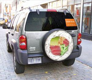szusi étterem gerillamarketing