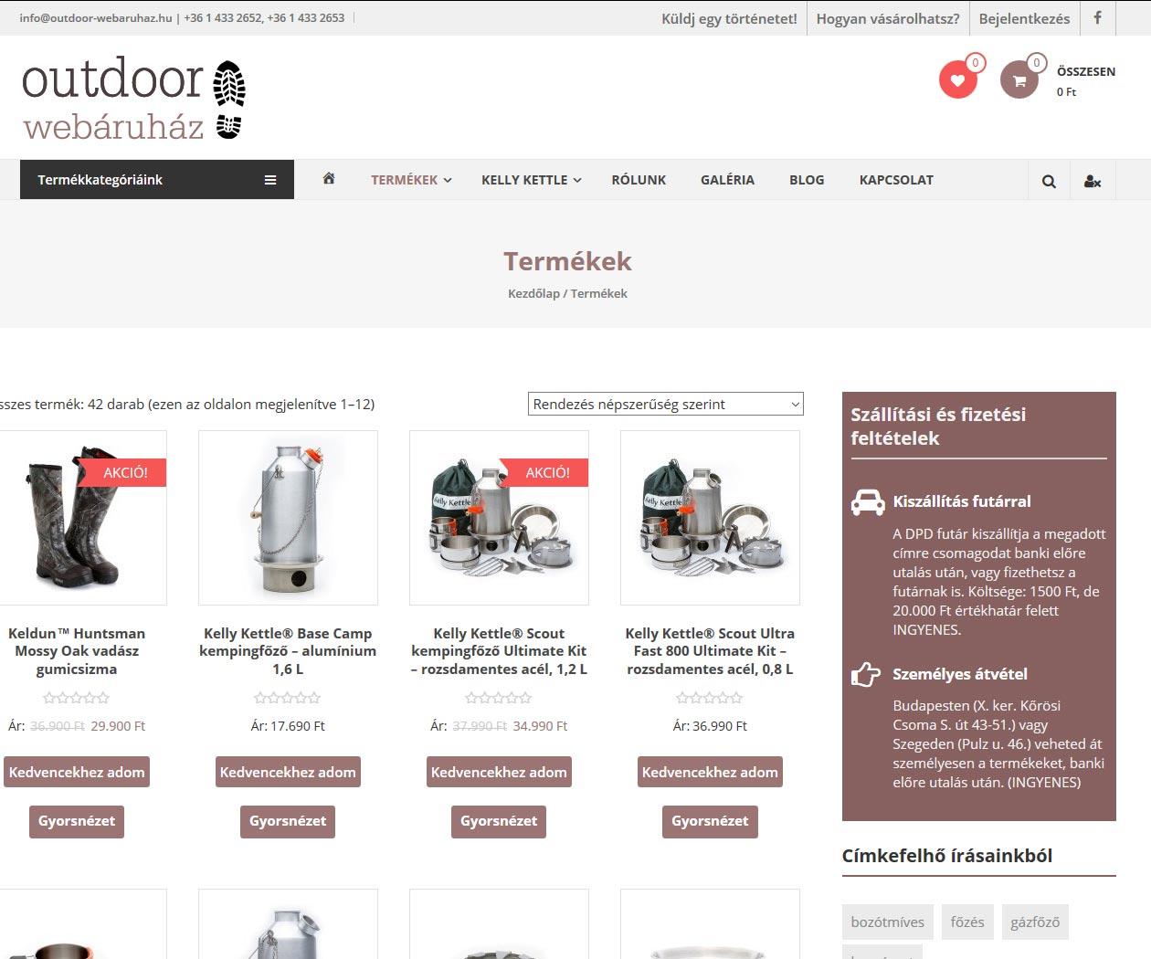 outdoor-webaruhaz-shop