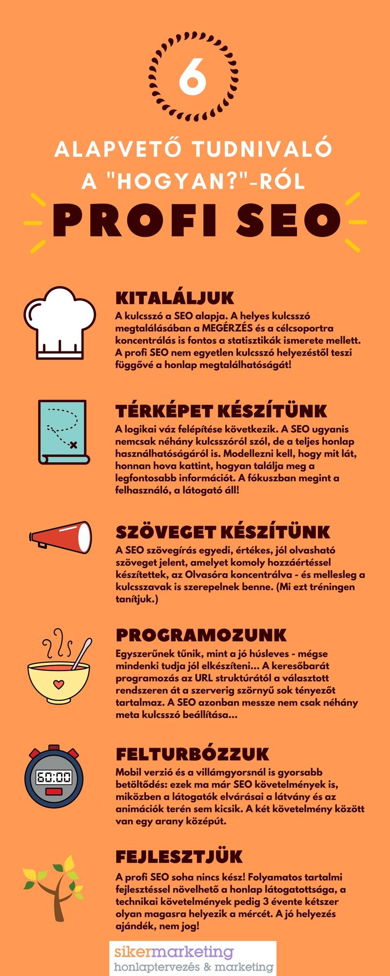 keresőoptimalizálás (profi SEO) infografika